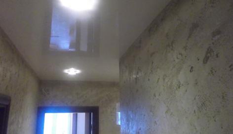 Травертин на стени